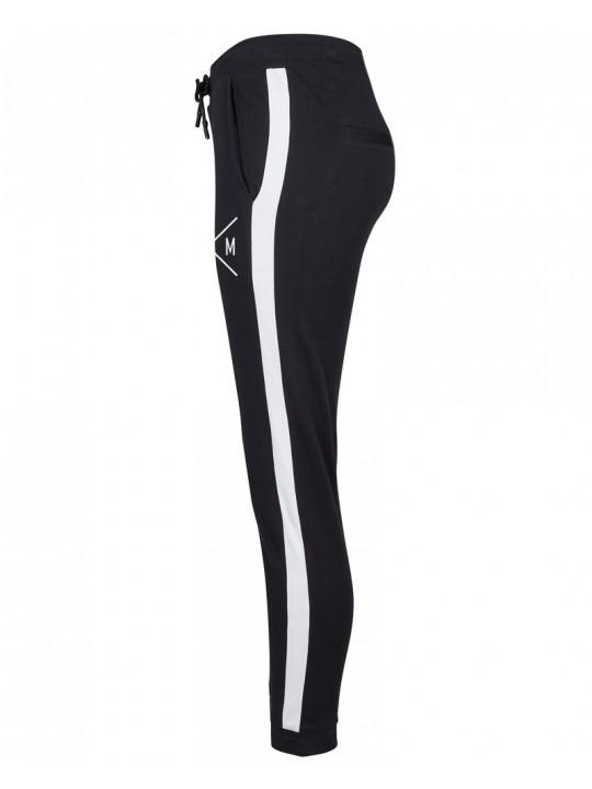 anja mittag   am31 stripe sweatpants   women`s cut   black