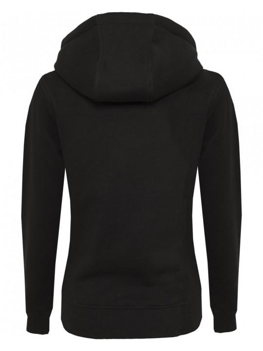 hndbll   hoodie   women`s cut   black