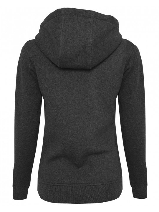 hndbll   hoodie   women`s cut   dark grey