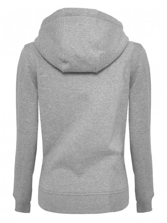 hndbll   hoodie   women`s cut   light grey