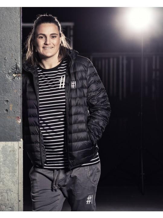 nadine angerer | striped shirt | unisex | black