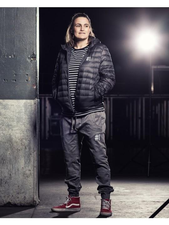 nadine angerer | hooded down jacket | men`s cut | black