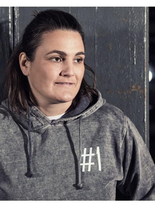 nadine angerer | vintage hoodie | unisex | grey