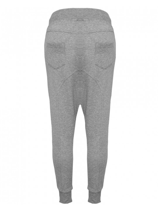 nadine angerer | baggy sweatpants | women`s cut | light grey -red