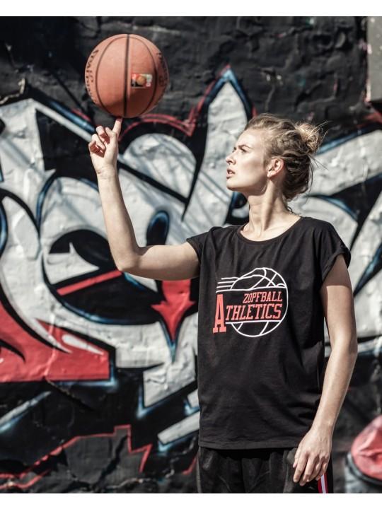 bsktbll | athletic-shirt | womens`s cut | black