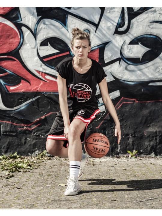 bsktbll | athletic-shirt | womens`s cut | light grey