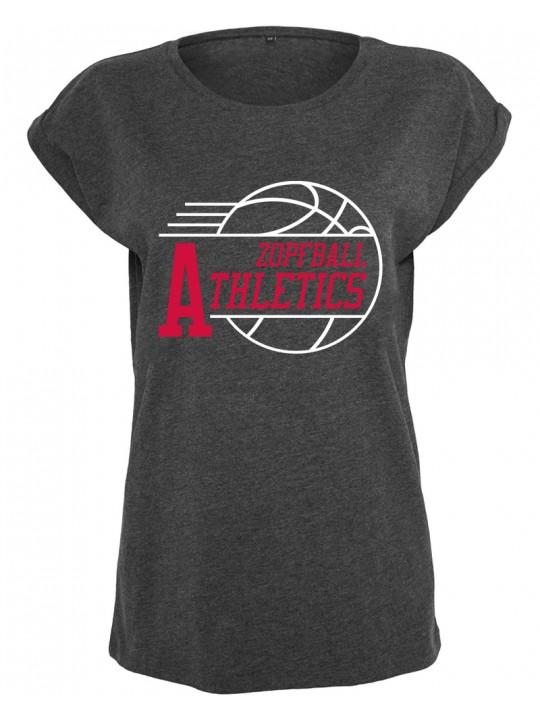 bsktbll | athletic-shirt | womens`s cut | dark grey