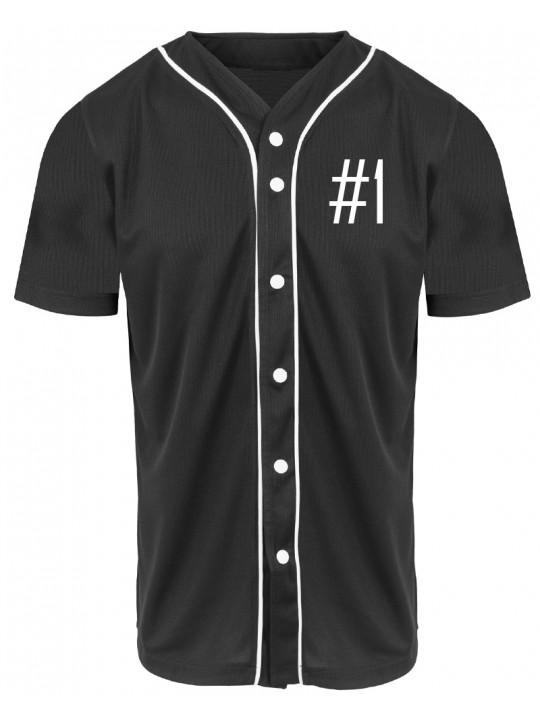 nadine angerer | baseballshirt | men`s cut | black