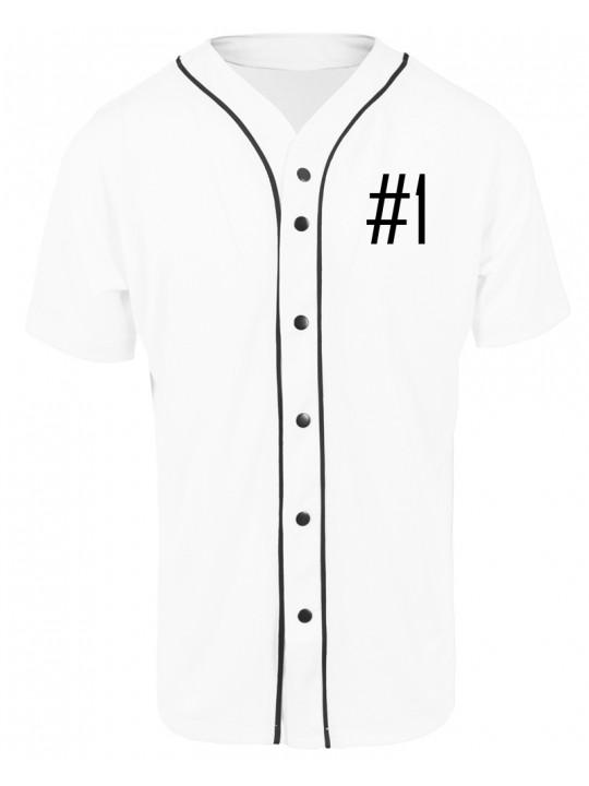 nadine angerer | baseballshirt | men`s cut | white