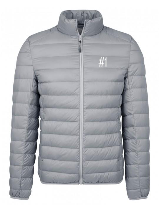 nadine angerer | down jacket | men`s cut | light grey